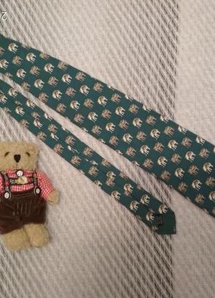 Шелковый дизайнерский галстук со слонами ручная работа италия