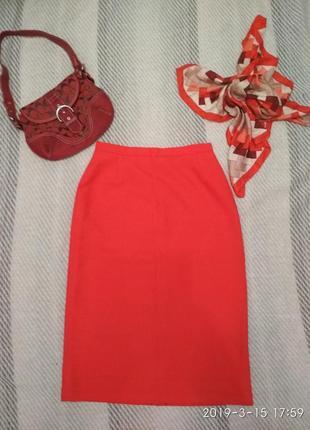 Винтаж юбка красная