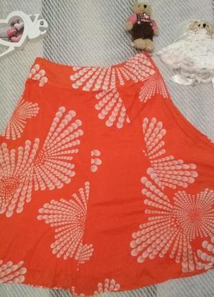 Яркая батистовая юбка оранжевого цвета от monsoon