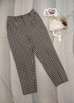 Винтаж брюки леггинсы в клетку большой размер от toni dress