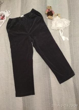 Велюровые брюки капри темно-серого цвета от signature