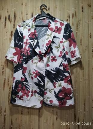 Блуза пиджак летний большой размер от  frank walder