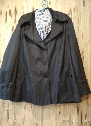 Спортивная куртка ветровка тренч плащ большой размер