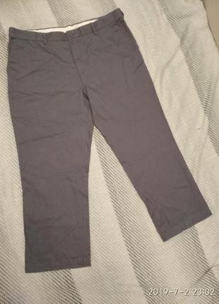 Джинсы чиносы мужские серого цвета большой размер