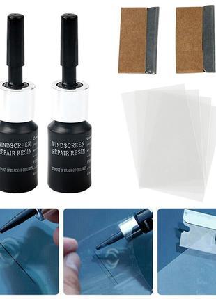 2 шт. Набор полимер клей ремонт сколов,трещин,паутин лобового сте