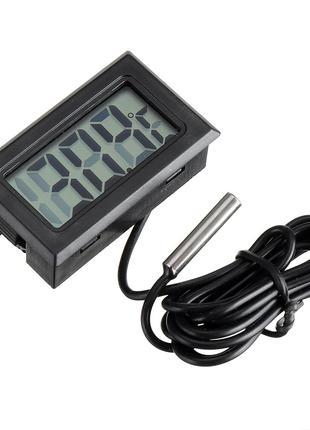 Термометр цифровой DC 1 с выносным датчиком температуры (Черный)