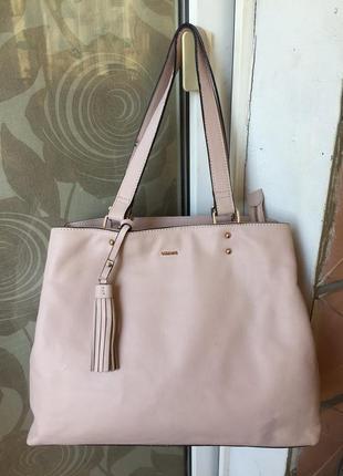 Шикарная большая сумка натуральная кожа carpisa италия оригинал