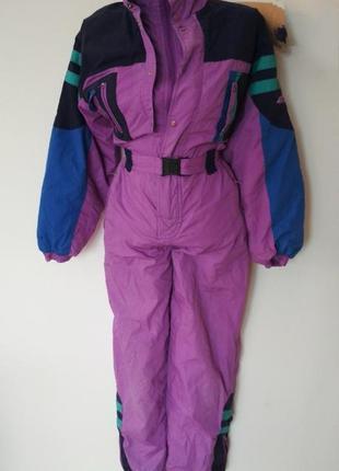 Лыжный комбинезон комбез костюм лижний комбінезон сиреневый фл...