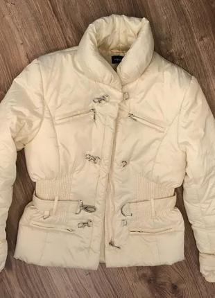 Куртка жемчужная  корсет молочная атласная ветровка motivi