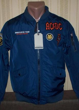 Куртка бомбер демисезонная для мальчиков 134/140 Венгрия