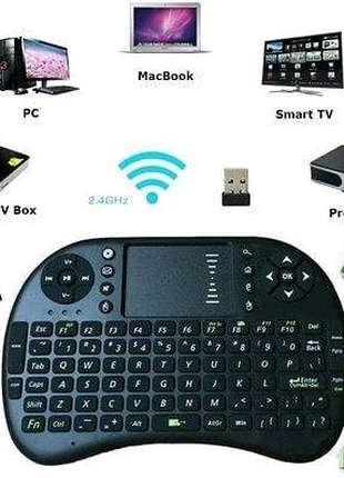 Беспроводная клавиатура mini keyboard MWK08 wireless i8 + touch