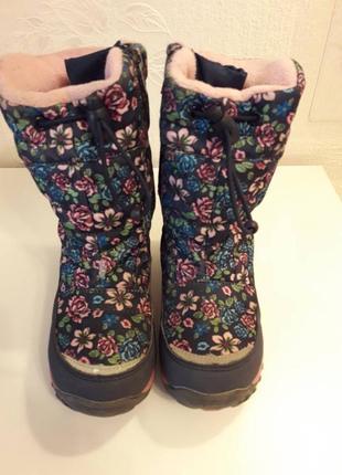 Зимние термо ботинки в розы