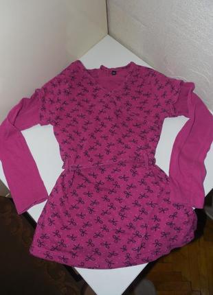 Туника платье с длинным рукавом