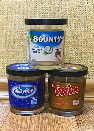 Шоколадная паста Bounty, Twix, Milky Way