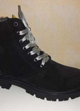 Замшевые зимние ботинки на девочку 31-38 р santegros
