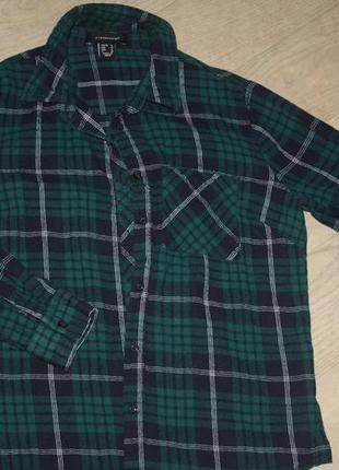 Стильная байковая рубашка для мальчика р-134/140, 8/10 лет,отл...