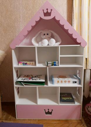Домик стеллаж, домик для кукол лол, детский домик