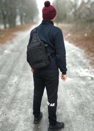 Тактический однолямочный рюкзак ( трансформер). топ качество