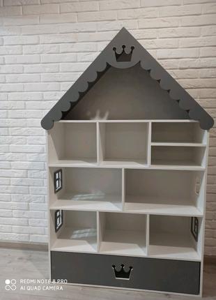 Детский домик, домик стеллаж, домик для кукол лол