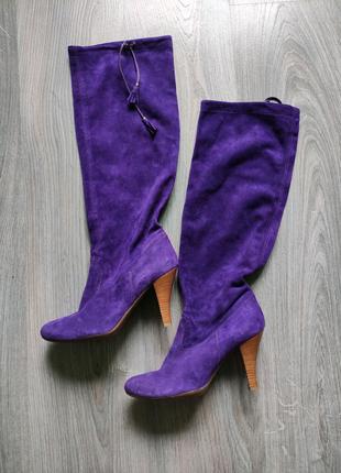 Vic Италия сапоги кожаные ботфорты чулки