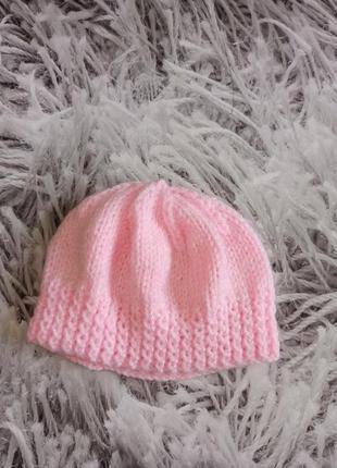 Шапка ажурная на девочку, детская шапка на новорожденного