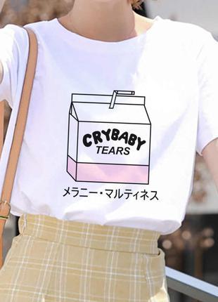 Женская футболка с изображением мультяшного персикового сока