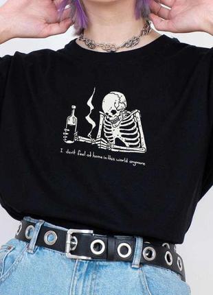 Женская футболка в стиле харадзюку
