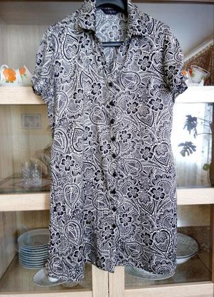 Симпатичное платье рубашка большого размера
