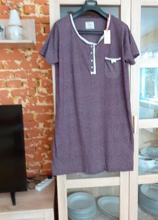 Натуральное платье в мелкий горошек с кружевом большого размера