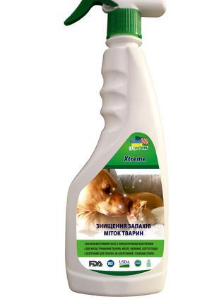 Xtreme PET. Уничтожение запахов, меток животных      0.5 л.