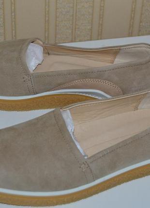 Слипоны мокасины туфли балетки кожа ecco размер 40 41 42 43, с...