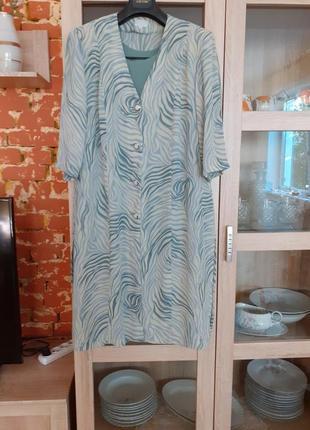 Платье  туника с топом большого размера