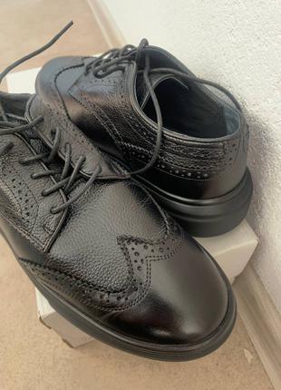 Оксфорди, чоловічі шкіряні туфлі