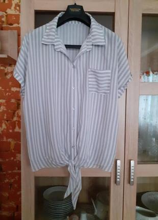 Вискозная рубашка большого размера