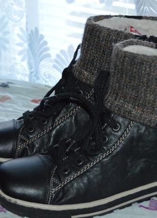 Ботинки rieker зима овеча шерсть розміри 39 42