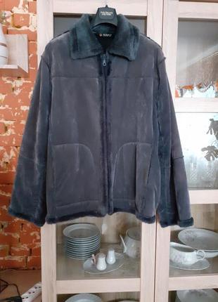 Милая куртка дубленка большого размера