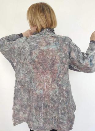 Валяное  пальто в стиле бохо-оверсайз.
