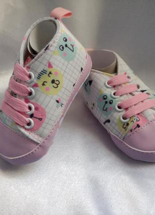 Кроссовочки для принцессы с котятами🐇🐇🐇