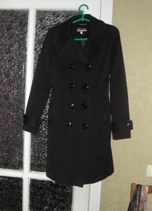 Молодежное демисезонное пальто 70% шерсть