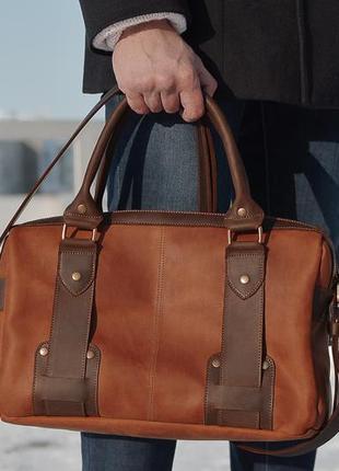 """Мужская сумка """"menstyle"""" brown"""