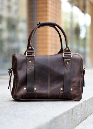 """Кожаная сумка ручной работы """"stylemen"""""""