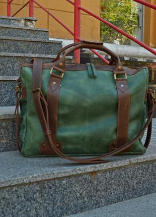 """Кожаная сумка для ноутбука 17 дюймов """"style men"""""""