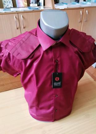 Рубашка с длинным рукавом бардо, Турция, размер М/46
