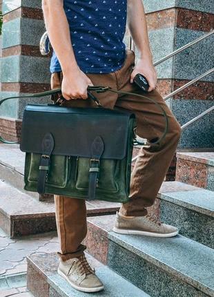 """Кожаный портфель """"бронкс"""", мужская кожаная сумка"""