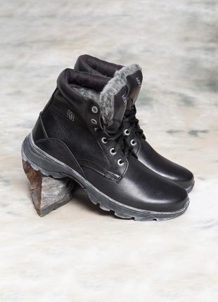 Ботинки зимние  кожаные мужские)распродажа