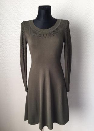 Новое (без этикетки) трикотажное платье цвета хаки от h&m, раз...
