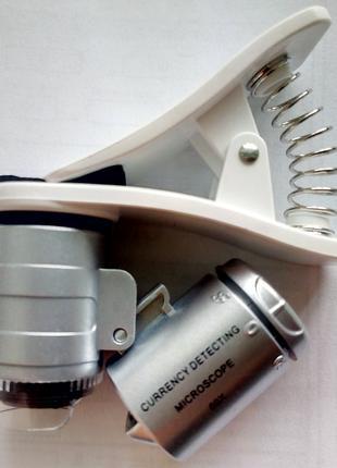Микроскоп с клипсой лупа увеличительное стекло мікроскоп