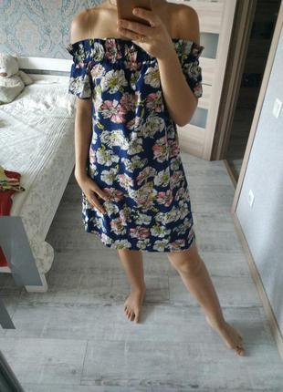 Красивое летнее платье сарафан на плечи открытые плечи