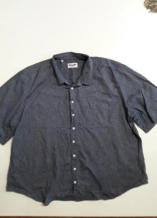 Фирменная классная хлопковая рубашка