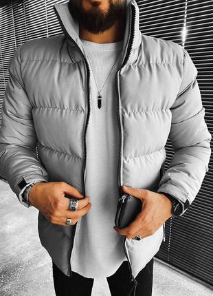 Куртка мужская стеганая серая турция / курточка чоловіча стьоб...